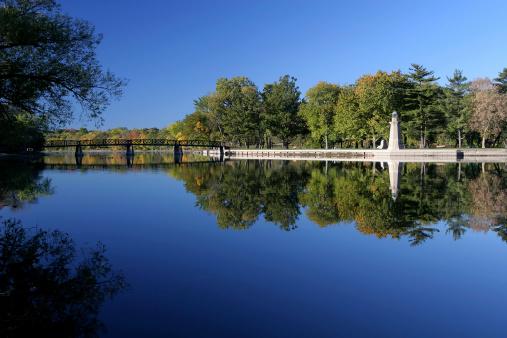 Footbridge over The Fox River, Illinois