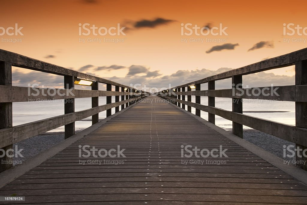 Footbridge royalty-free stock photo