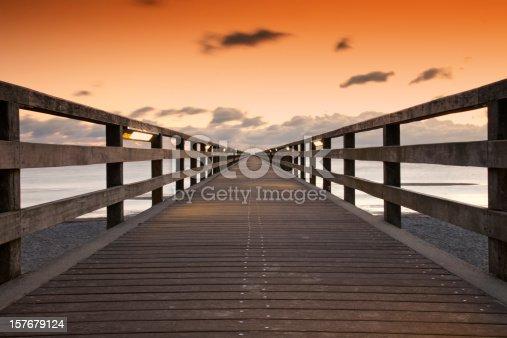 Footbridge; long exposure;