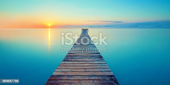 istock footbridge sea beach 669687786
