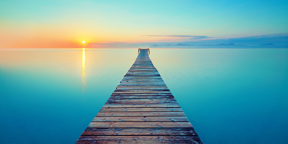 footbridge sea beach