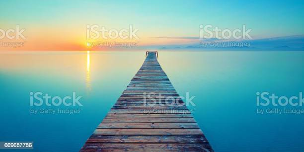 Photo of footbridge sea beach