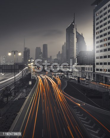 view from a overpass in Dubai