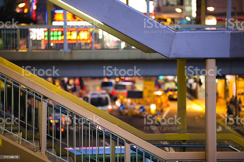 Footbridge,hongkong royalty-free stock photo