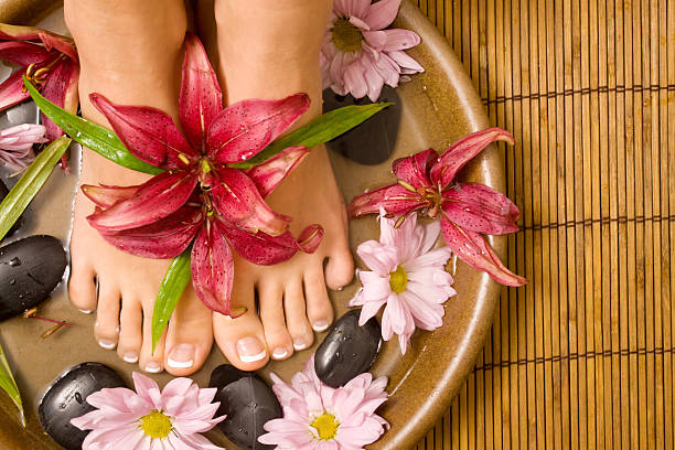 Footcare and pampering stock photo