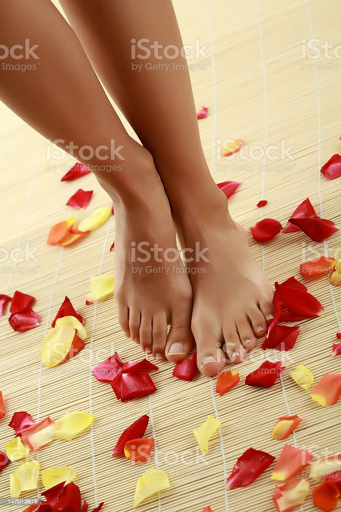 Foot-care royalty-free stock photo