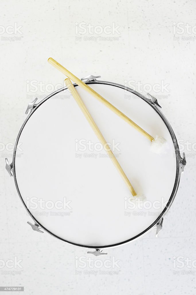 Footed Bass Drum stock photo