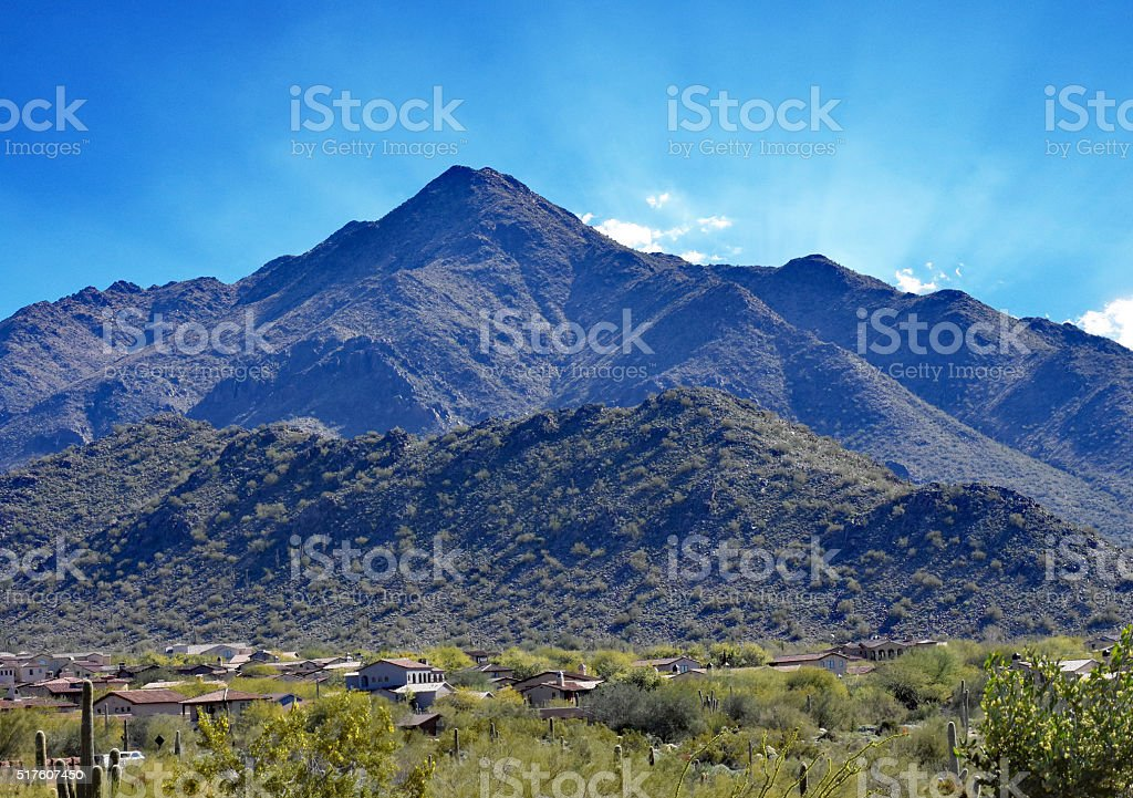 Foothills in Scottsdale stock photo