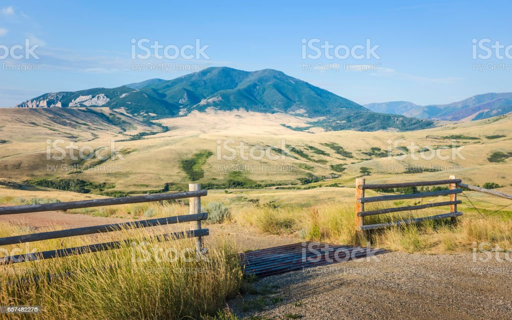 Foothills of Bear Tooth mountans, Red Lodge, Montana, USA. stock photo