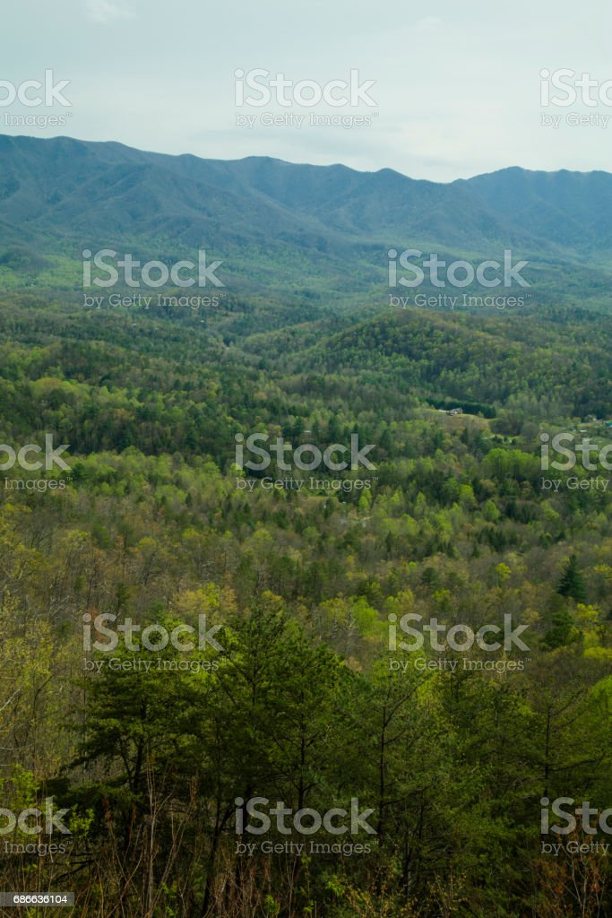 Foothills Parkway, East Tennessee stock photo