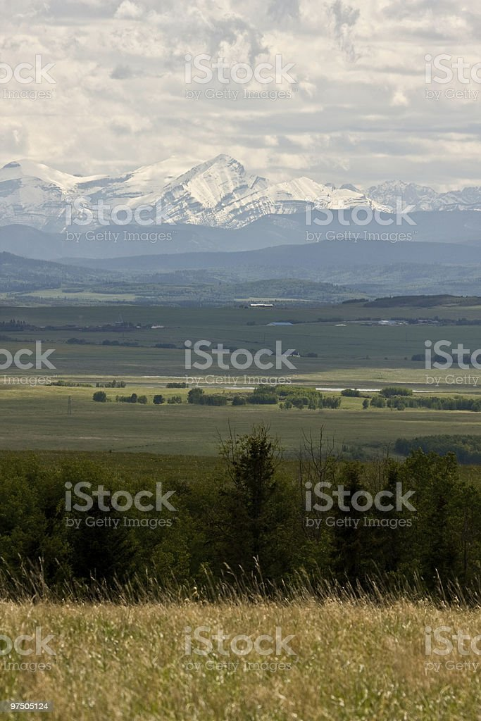 Foothills to the Rockies royalty-free stock photo