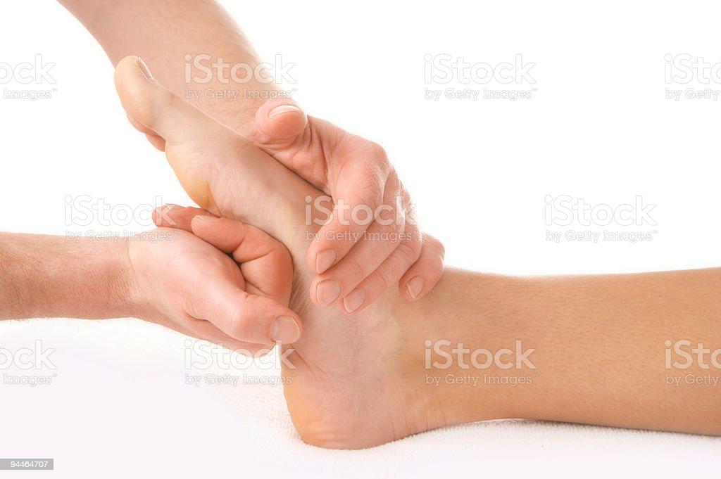 footmassage 2 stock photo