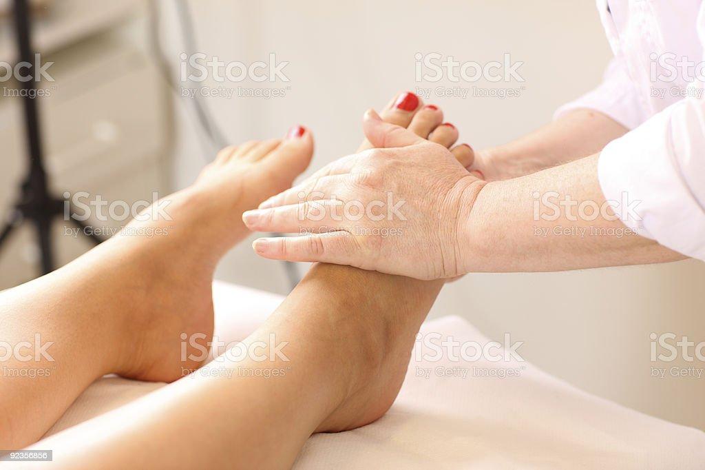 Foot-massage royalty-free stock photo