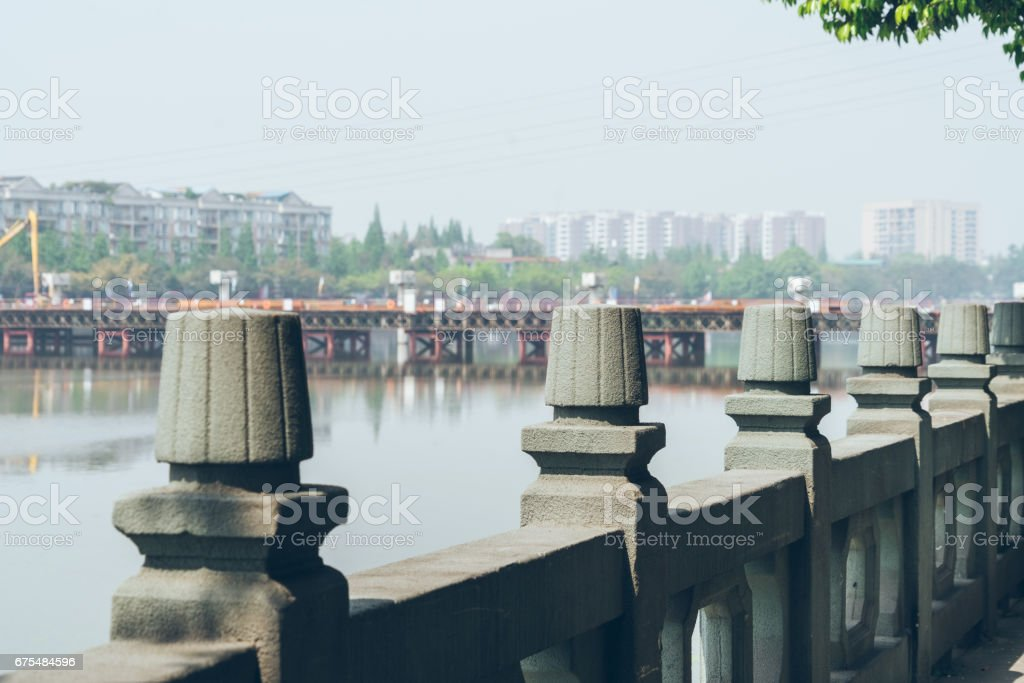 footpath along the river royalty-free stock photo
