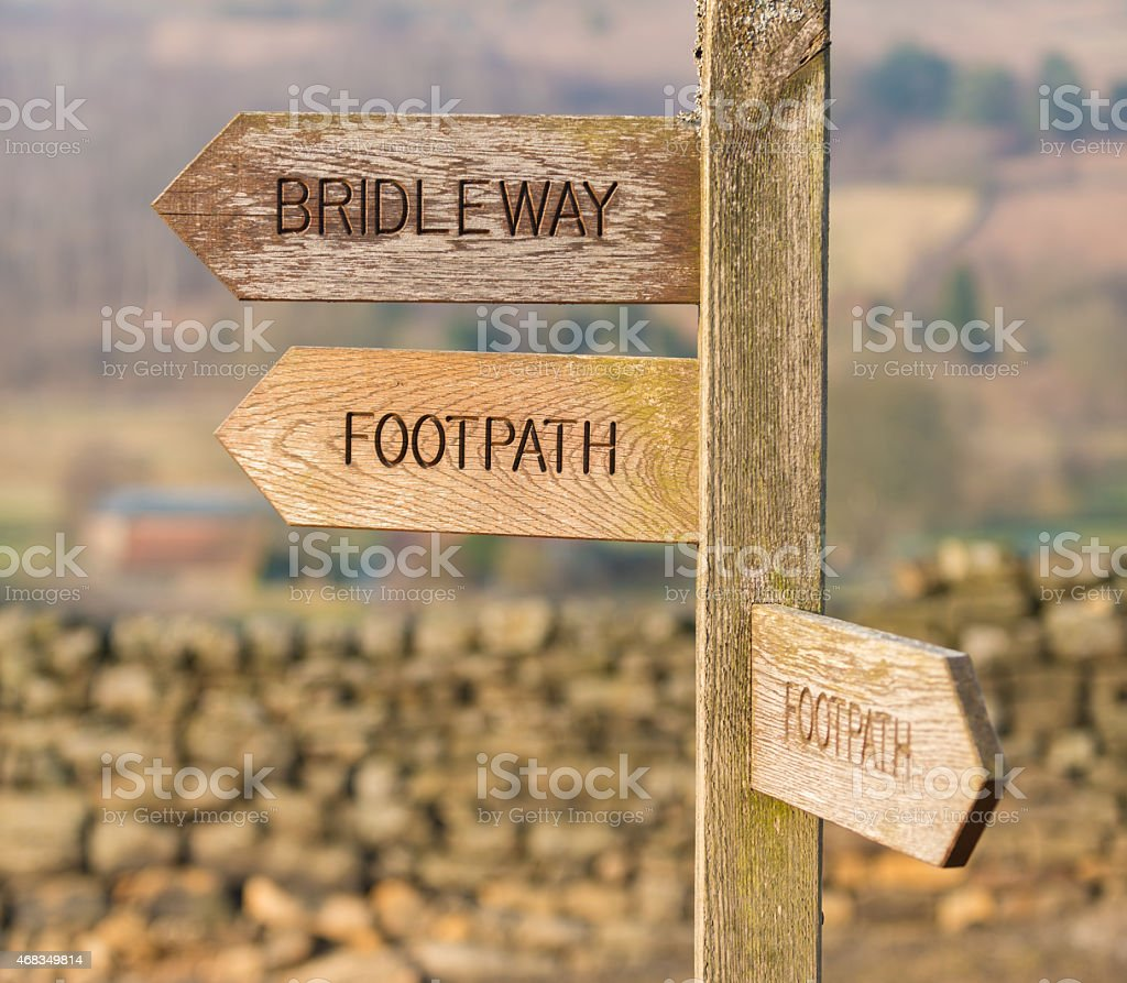 Footpath and Bridleway signage royalty-free stock photo