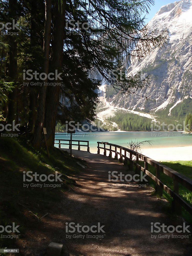footpath and lake royalty-free stock photo