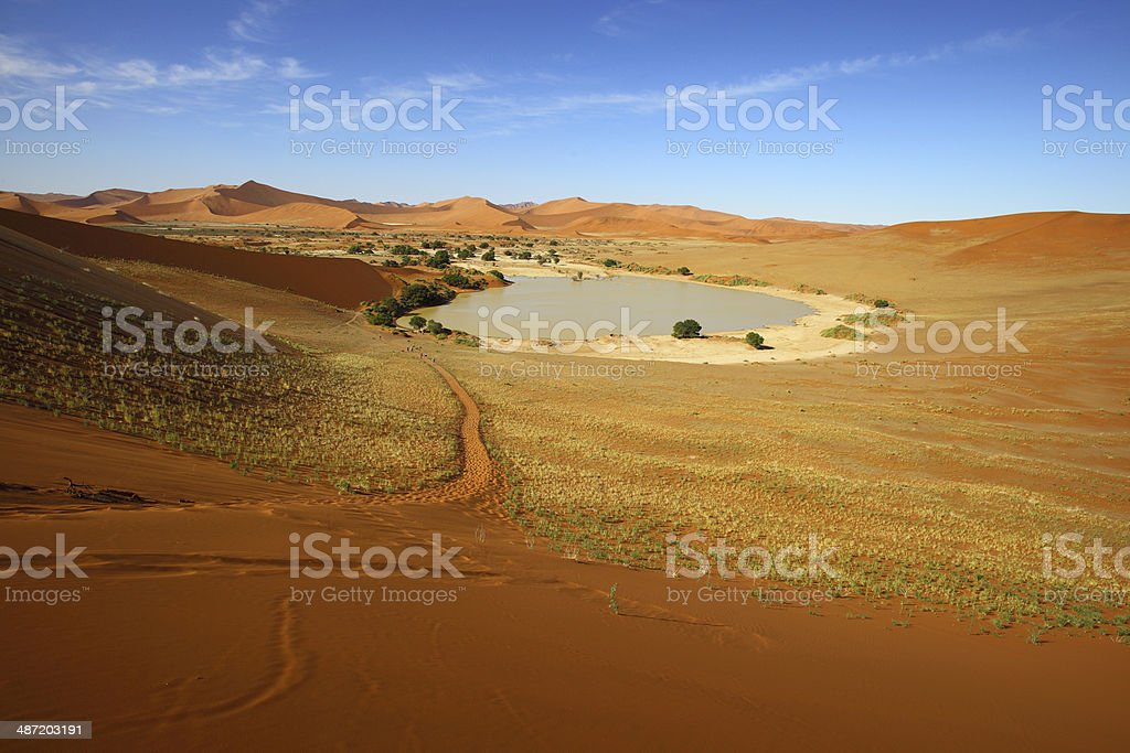 Footpath at Sossusvlei stock photo