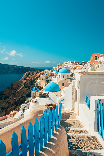 istock Footpath in Oia Santorini Greece 833265042