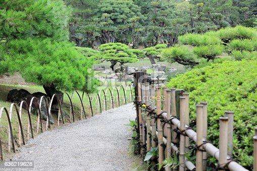 istock Footpath in Ritsurin Koen-Chestnut Grove Garden. Takamatsu-Japan. 7123 636219628