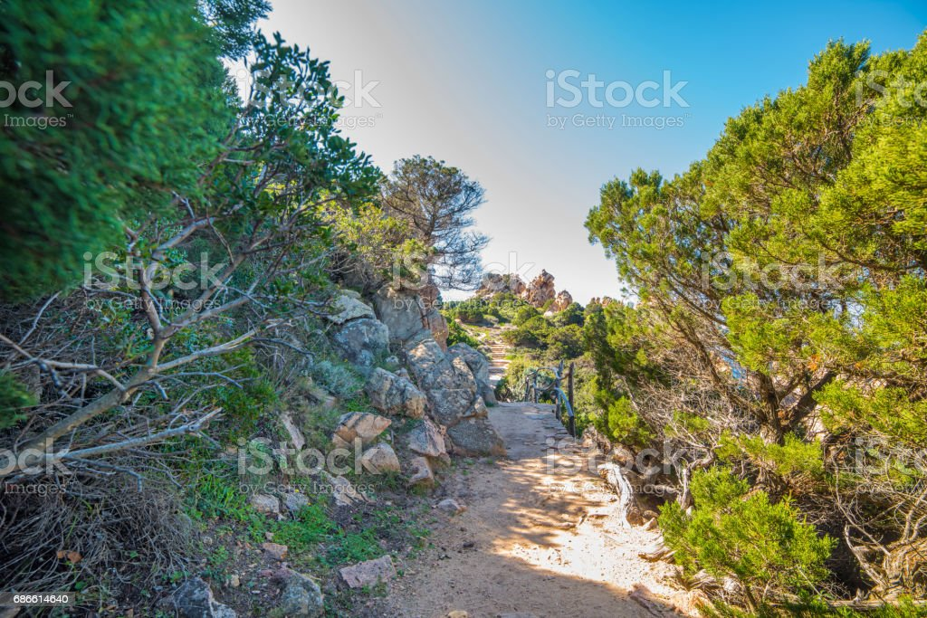 Footpath in Sardinia royalty-free stock photo