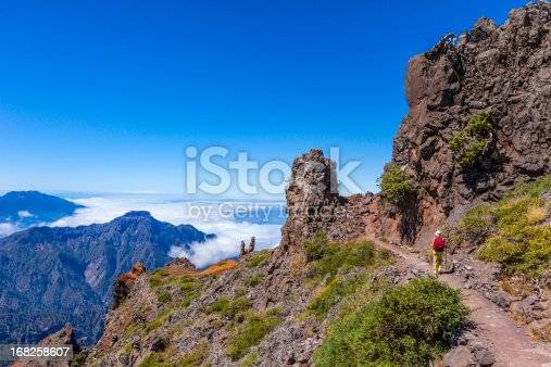 istock Footpath in the Caldera de Taburiente National Park, La Palma 168258607