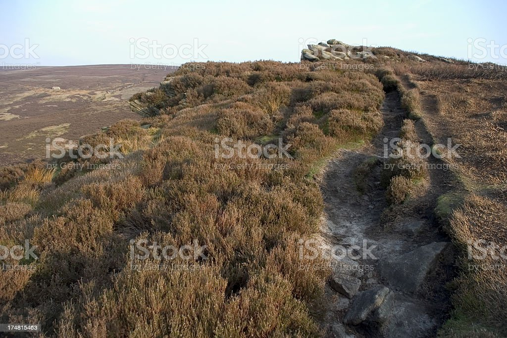 Footpath on Moors in the Peak District royalty-free stock photo