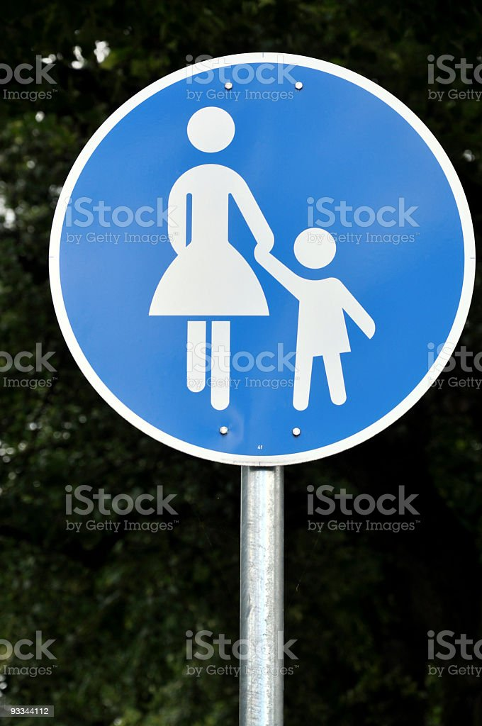 Footpath Sign royalty-free stock photo