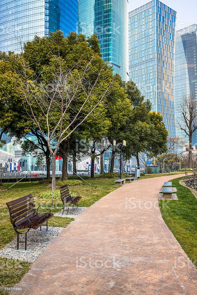 footpath to office building royalty-free stock photo