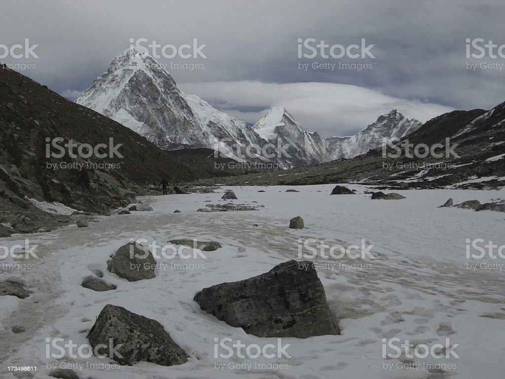 Foot-path to the Everest Base Camp royalty-free stock photo