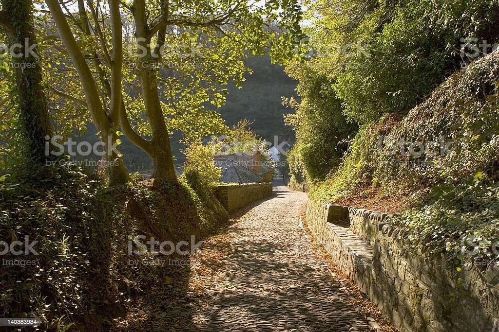 footpath to village royalty-free stock photo