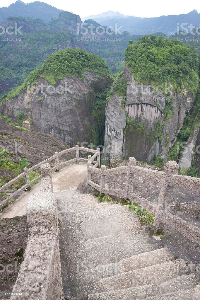 Footpath with mountain landscape royalty-free stock photo