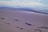 footpints on sand