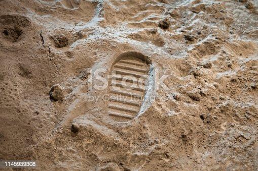 istock Footprint on the Moon 1145939308