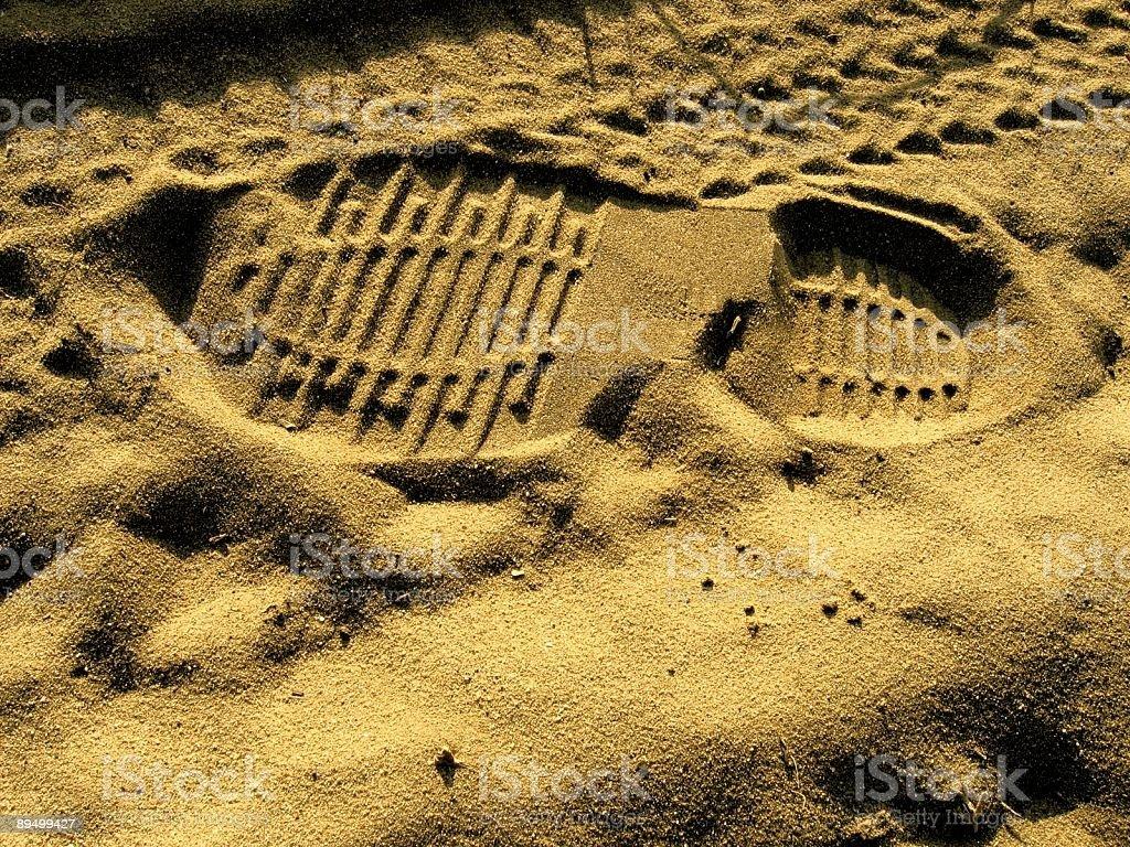 Footprint royalty free stockfoto
