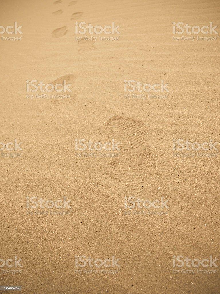 footprint royalty-free stock photo