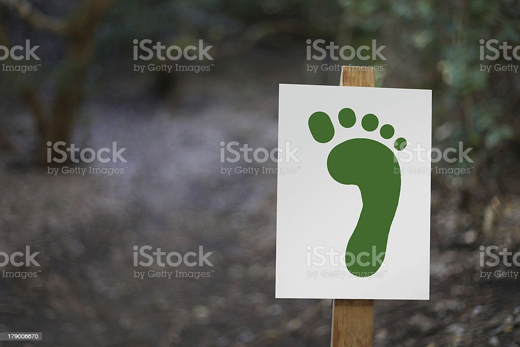 Footprint Sign royalty-free stock photo