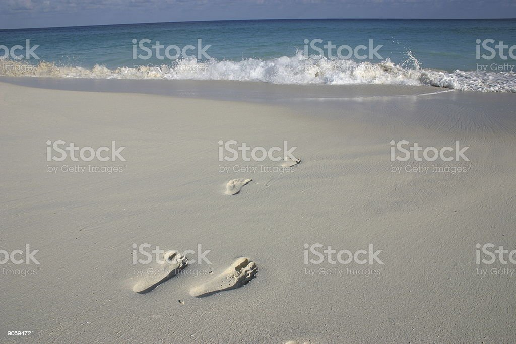 footprints in paradise royalty-free stock photo