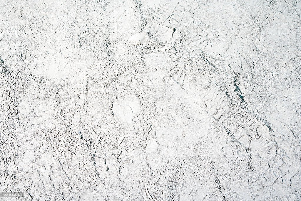 Footprints in sand stock photo