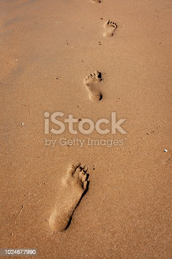 1088451256 istock photo Footprints in the sand 1024677990