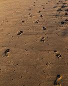 Close up of footprints