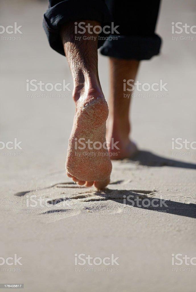 Spuren im sand Lizenzfreies stock-foto