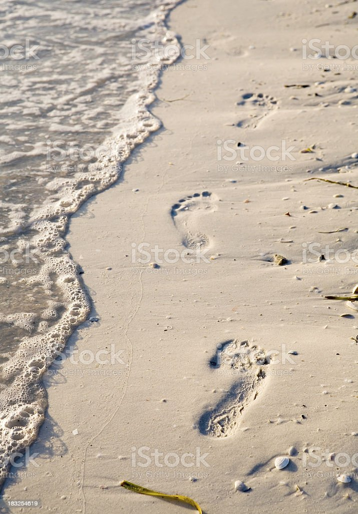 Footprints in the Sand royalty-free stock photo