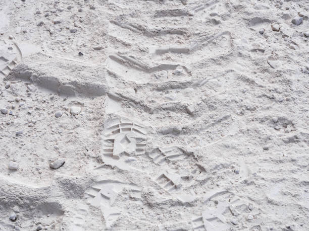 Footprints of a marble powder passage - foto stock