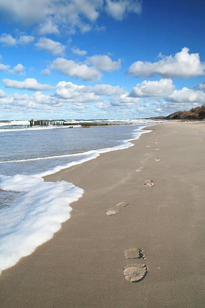 Footprints am Strand – Foto