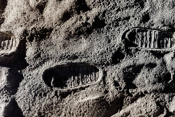 Footprints auf Moon – Foto