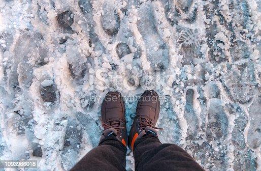 629589448 istock photo Footprints on Snow 1093966018