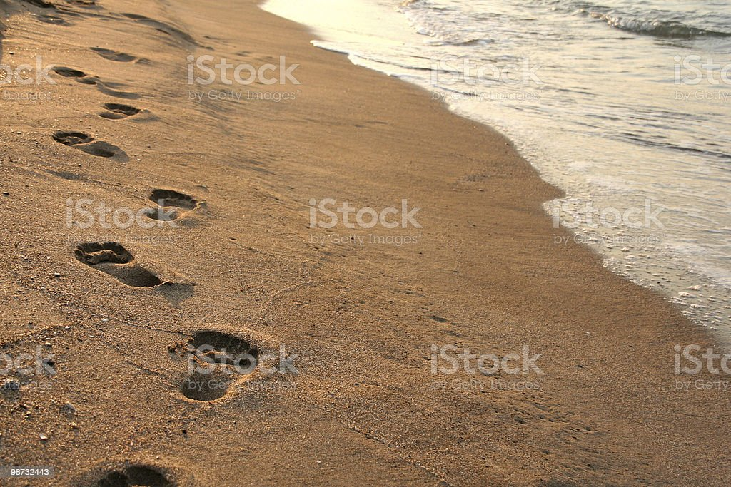 footprints am Strand Lizenzfreies stock-foto