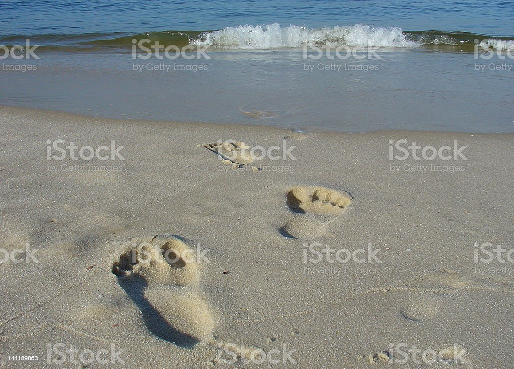 Tracks on the beach sand in Niteroi, Rio de Janeiro, Brazil