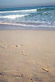 Footprints on the White Beach.