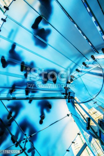 180698194 istock photo Footprints People on Glass Staircase 175212228